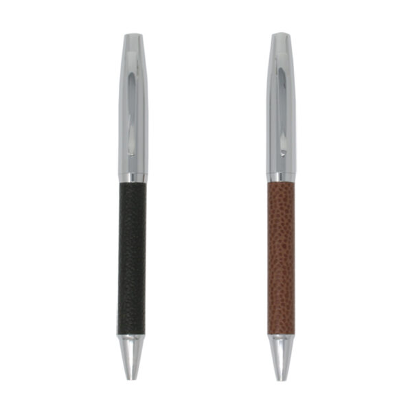 Executive Ballpoint Pen with Leather Barrel