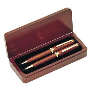 Executive Rosewood Ball Pen and Pencil Set