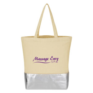METALLIC ACCENT 12 OZ. COTTON TOTE BAG