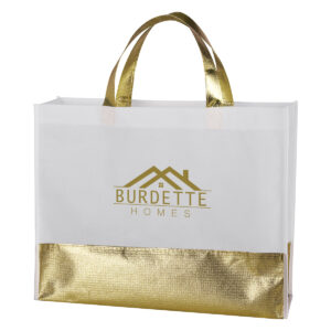 FLAIR METALLIC ACCENT NON-WOVEN TOTE BAG