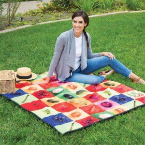 Water Repellent Microfiber Picnic Blanket