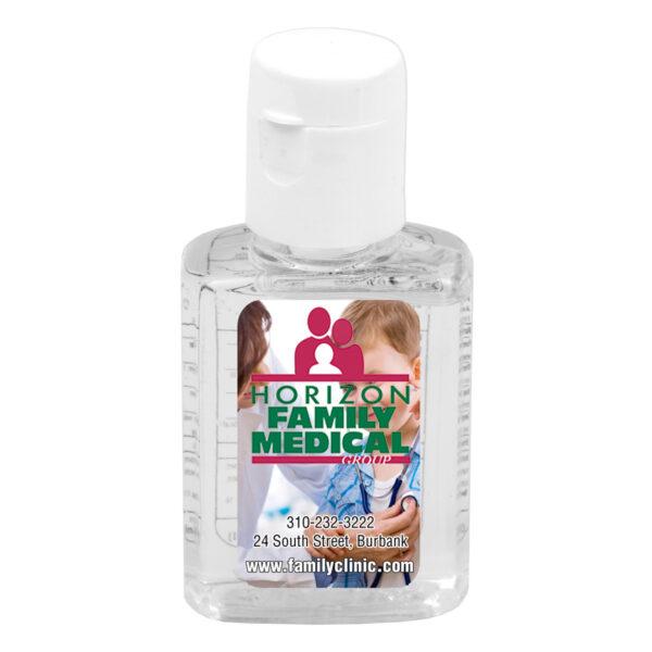 """""""SanPal S"""" 0.5 oz Compact Hand Sanitizer Antibacterial Gel in Flip-Top Squeeze Bottle"""